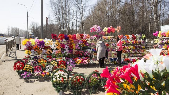 Возле основных кладбищ в Ярославле запретят парковку и стоянку в Вербное воскресенье