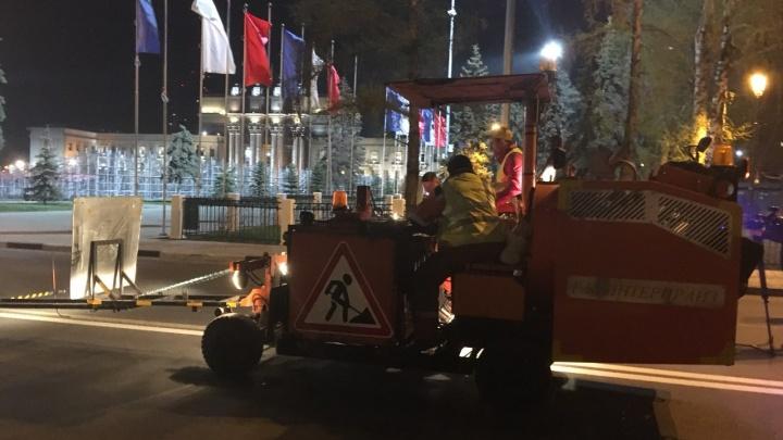 В Самаре началось обновление дорожной разметки