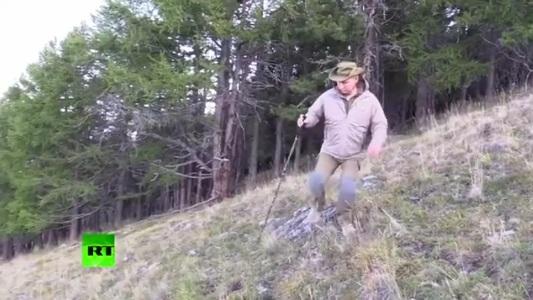 Президент Путин провёл выходные на Енисее