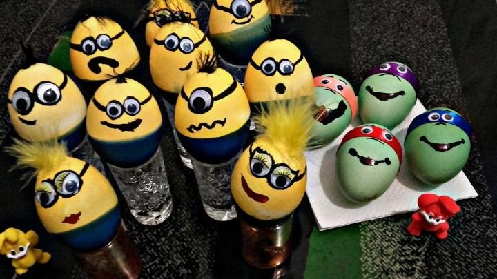 Черепашки-ниндзя, божья коровка, angry eggs: выбираем самые оригинальные пасхальные яйца