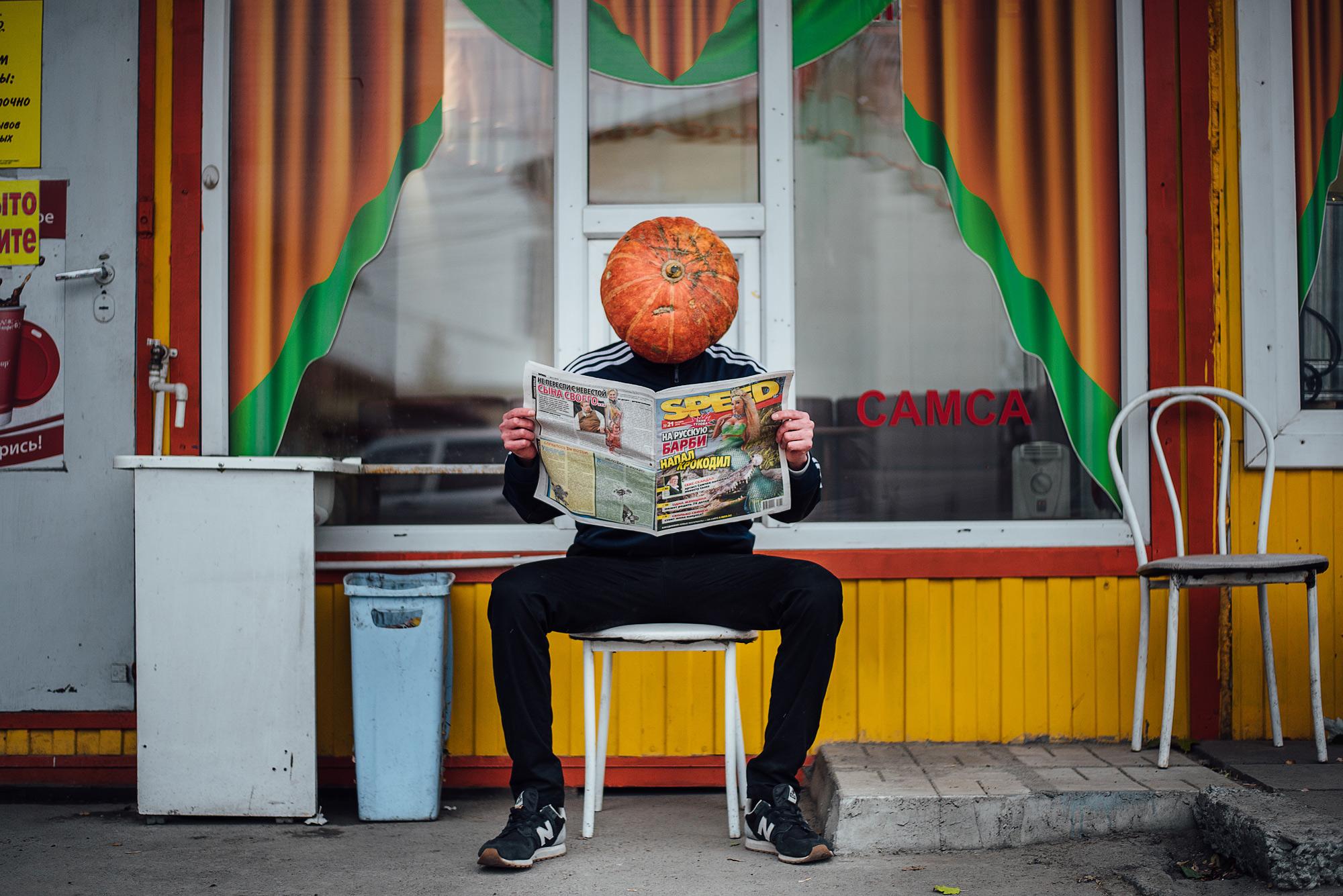 Чтобы снять серию к Хеллоуину фотограф потратила всего тысячу рублей