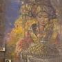 Челябинцы отмыли на доме закрашенное серой краской изображение девушки с караваем