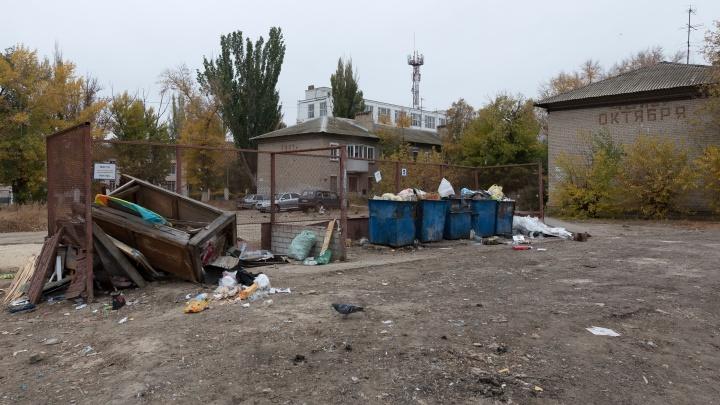 «Здесь свалкой пахнет»: волгоградцы жалуются на смрад из-за гниющих мусорок