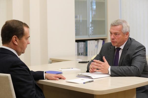 Медведев и Голубев обсудили ростовский транспорт