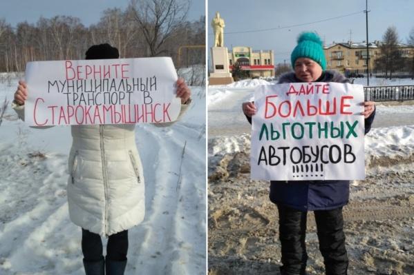 Жители Старокамышинска потребовали увеличить число автобусов на маршруте № 83