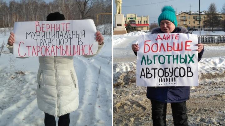 Проблемы с транспортом из пригорода в Челябинск переросли в пикеты