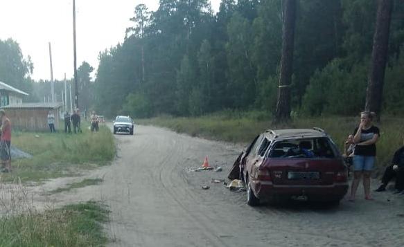«Хонда» перевернулась под Новосибирском: три ребенка пострадали, один водитель погиб