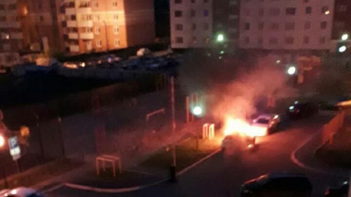 Ночью на Кремлевской сгорел Nissan Juke