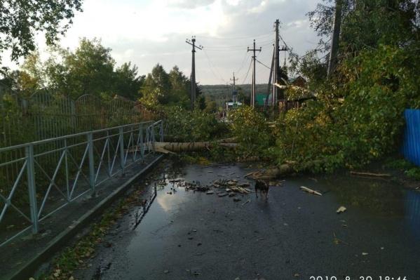 Ураган сорвал крыши с десятка домов в посёлке Березовка