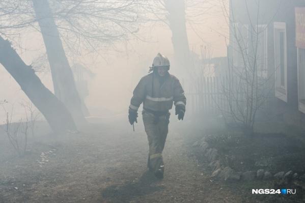 Пожар произошёл сегодня ночью в Красноярске