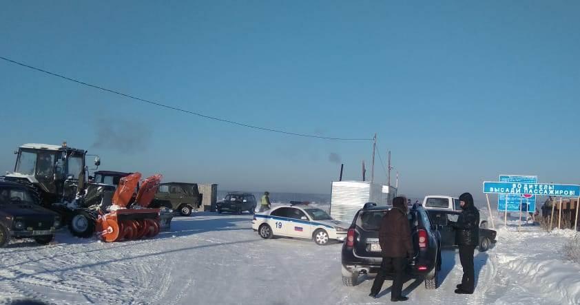 Всего в Новосибирской области работает две ледовые переправы