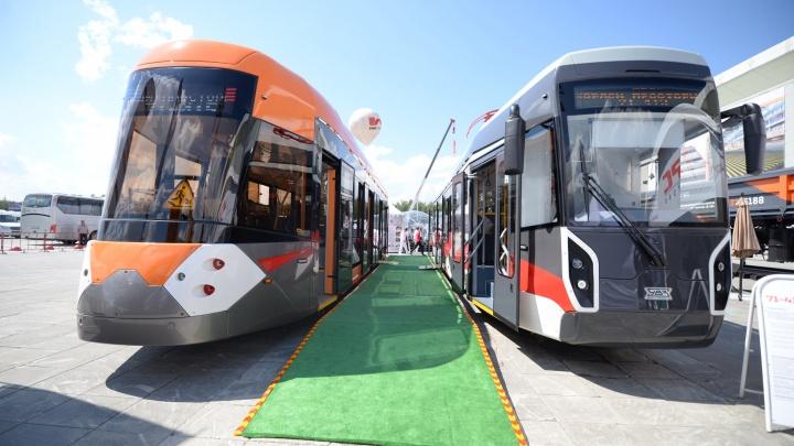 На «Иннопроме» показали трамваи, в которых пассажиров не будет трясти