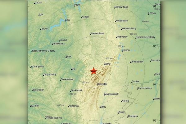 Эпицентр землетрясения был в 450 километрах от Перми