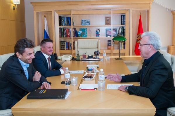 Александр Усс на встрече с бизнесменами в представительстве Красноярского края