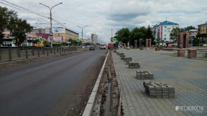 Чиновники объяснили принципы массовой замены бордюров по Красноярску
