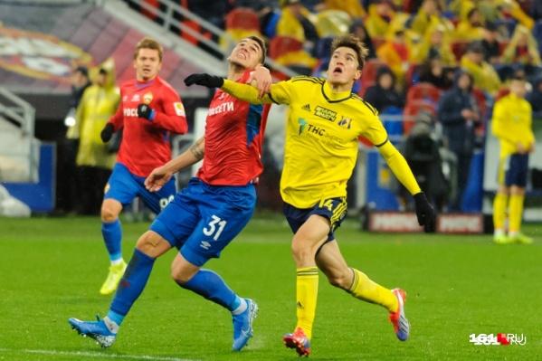 В матче 12-го тура РПЛ «Ростов» обыграл ЦСКА со счетом 3:1