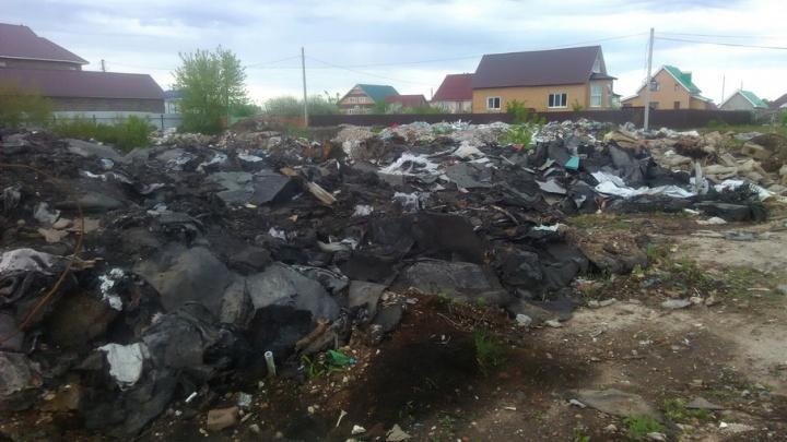 Жители башкирского города «погрязли» в стихийной свалке
