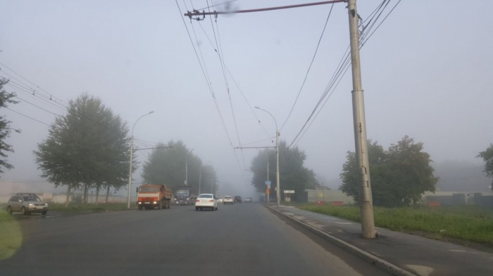 Туман утром 22 июля