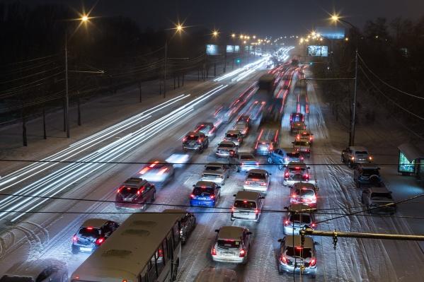 Сильнее обычного оказалось загружено Советское шоссе