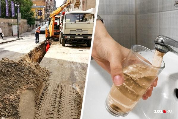 Ростовчане жалуются на ржавую воду из-под крана
