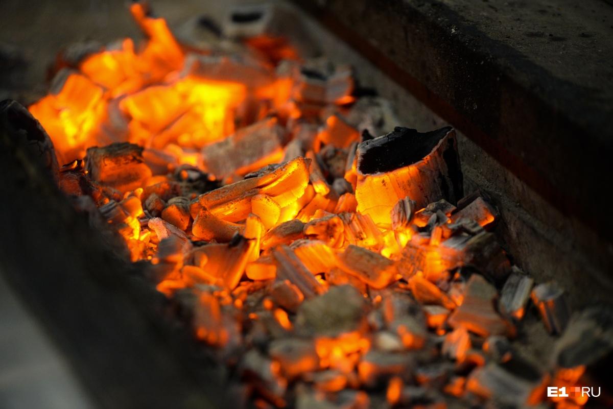 Размер мангала не имеет значения, а вот дрова, по мнению Арсена, лучше, чем уголь, поскольку шашлык получается более ароматным