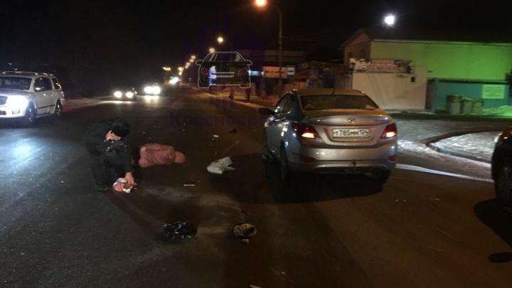Водитель ВАЗа зазевался и проехал по ногам уже сбитой женщины на Затонской