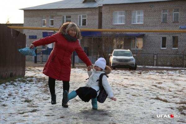 В ближайшие дни жителям Башкирии будет труднее устоять на ногах