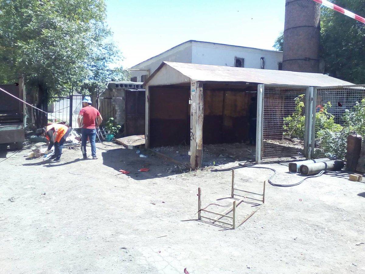 Демонтаж гаражей на пересечении Гагарина и Авроры