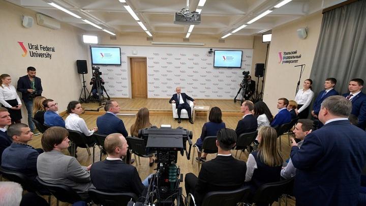 Путин поручил выполнить всё, о чем его на встрече просили студенты УрФУ: чек-лист