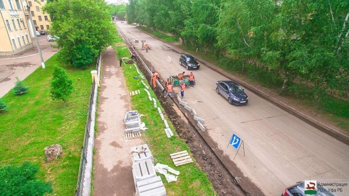 Возможны затруднения: в северной части Уфы дорожники начали ремонт сразу нескольких дорог