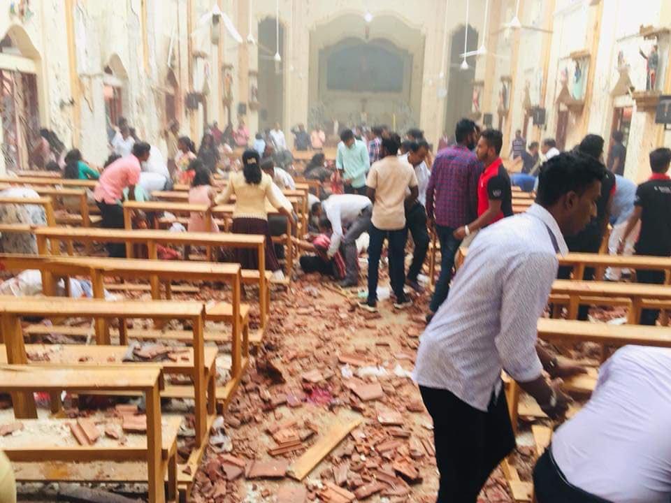 Взрывы произошли в том числе в трех церквях
