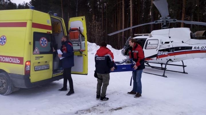В Екатеринбург на вертолёте доставили годовалую девочку с сильными ожогами от кипятка