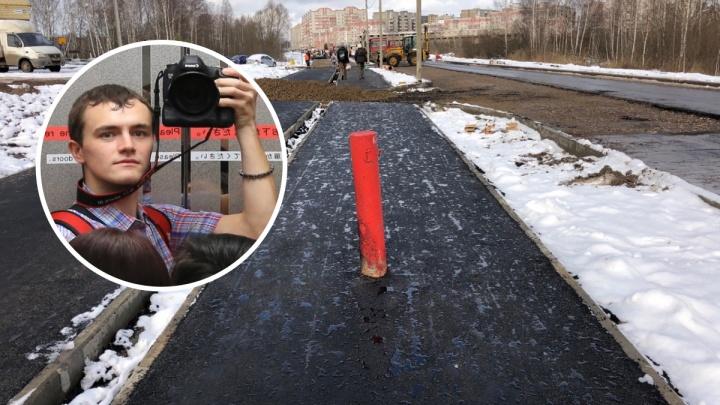 «Пытались разбить айфон и пугали газовой горелкой»: в Ярославле дорожники набросились на блогера