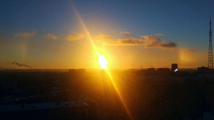 В небе над Новосибирском появилось гало