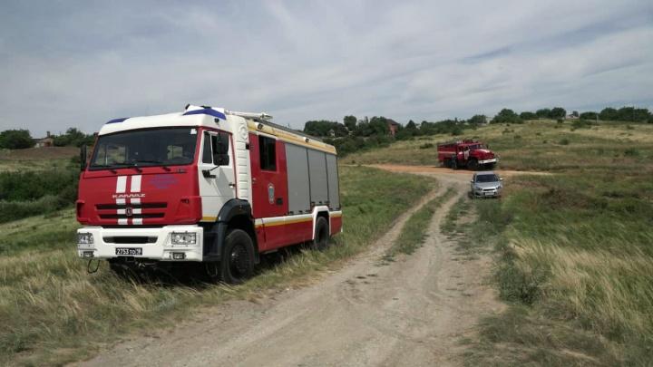 В Аксайском районе наконец потушили природный пожар