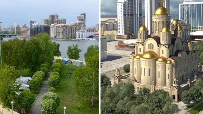 Читатели E1.RU считают, что храм на месте сквера строить нельзя