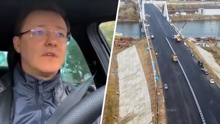 «Работают не вот специально для меня»: Азаров проехался по Фрунзенскому мосту