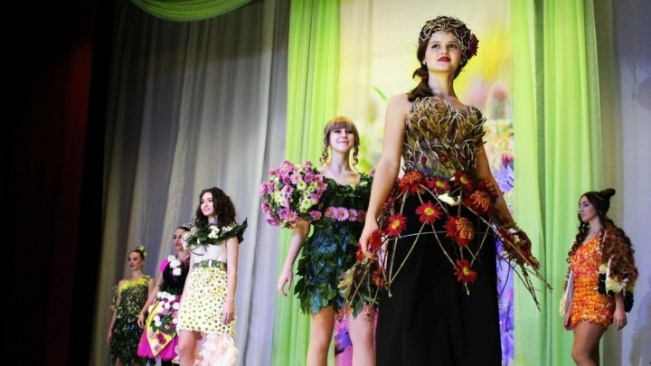 В Волжском из ярких хризантем соберут модные букеты и платья