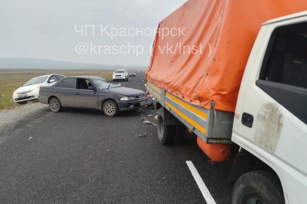Авария произошла во время нанесения дорожной разметки