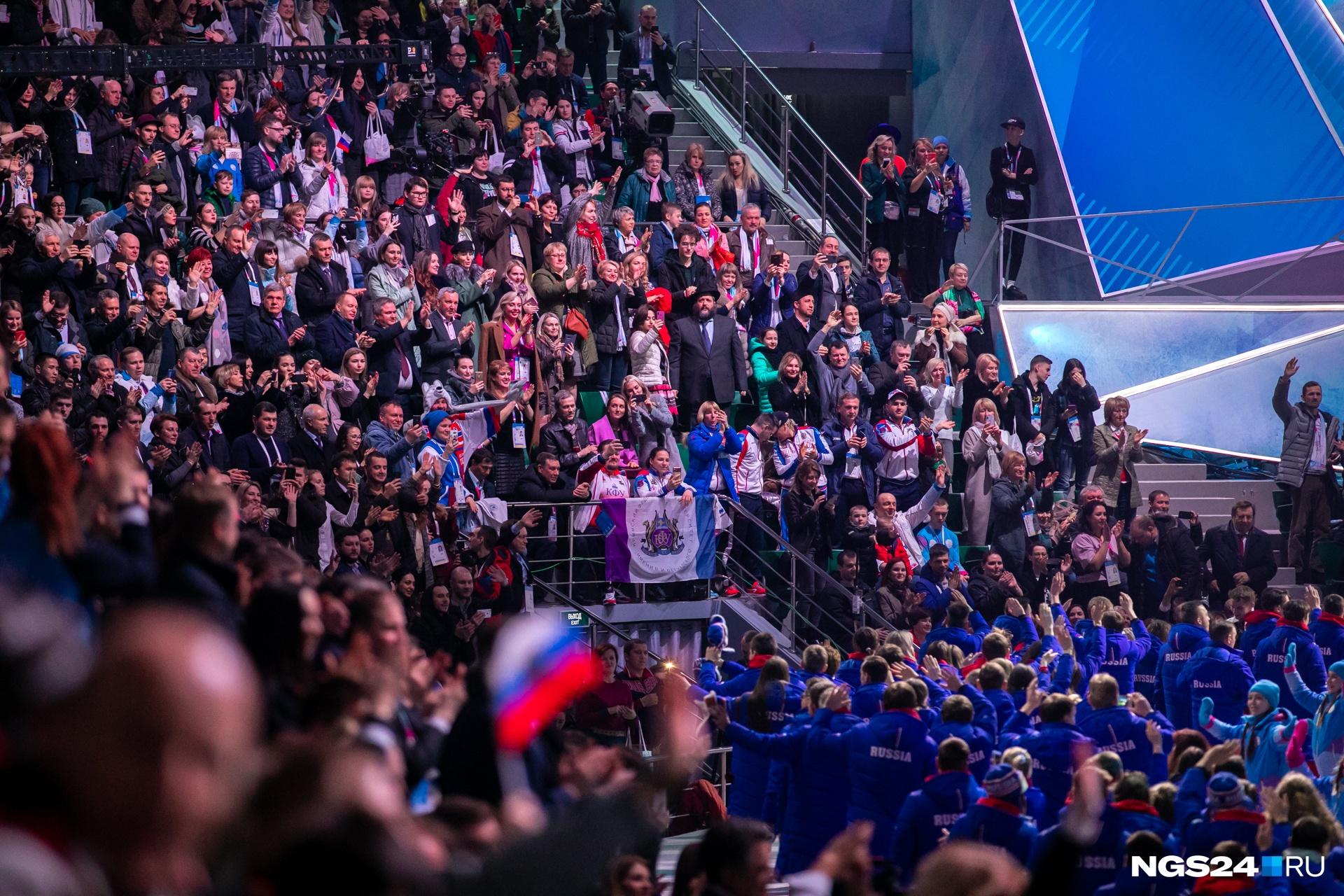 Свободных мест в 7-тысячной построенной к Играм «Платинум Арене» не было