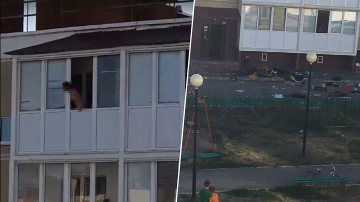 «Перепугала детей на площадке»: жительница Самары выкинула из окна высотки мебель и бытовую технику