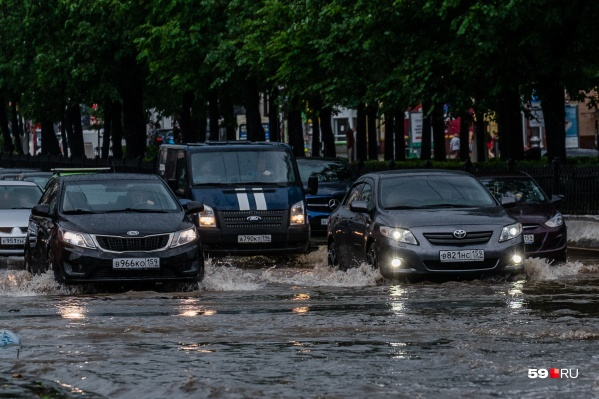 Пермские улицы заливает дождями