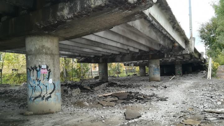Крошится и ржавеет: как выглядит сейчас обвалившийся Добрынинский мост в Ярославле