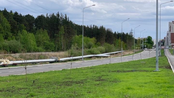 На Широкой Речке пустили движение по дороге, которую 4 месяца не открывали из-за отключенных фонарей