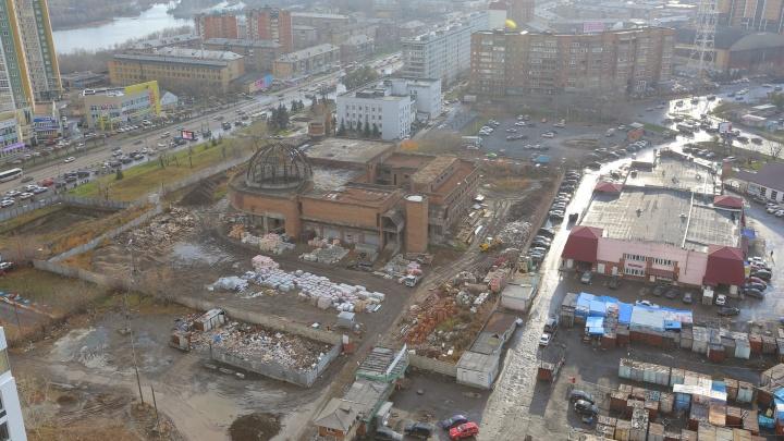 Торговый центр и новый жилой комплекс начали строить на месте снесённого планетария