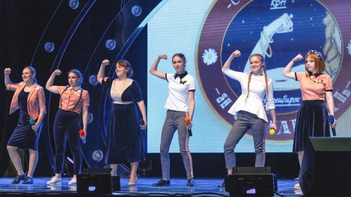 Женская сборная НГУ прошла в финал телевизионной Международной лиги КВН