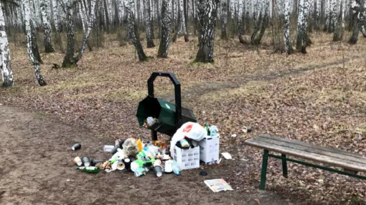 Новый парк на северо-западе Челябинска оказался бесхозным и превратился в помойку