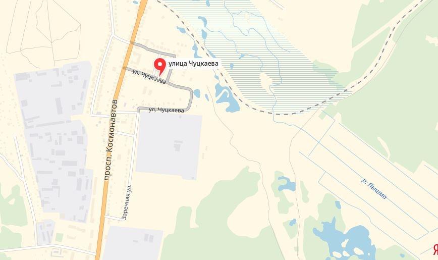 Трамвайная линия, если судить по схемам, пройдет по «средней» улице Чуцкаева