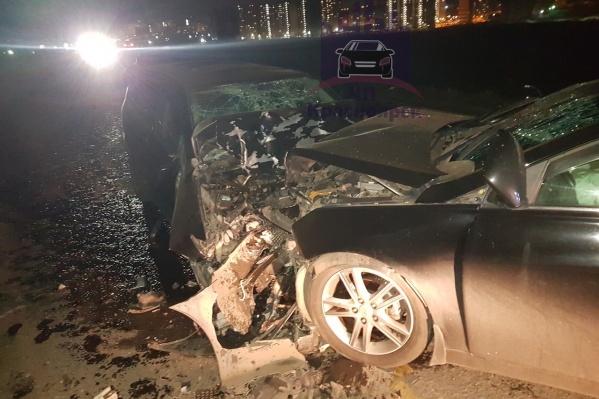 Авария произошла рядом с Красноярском