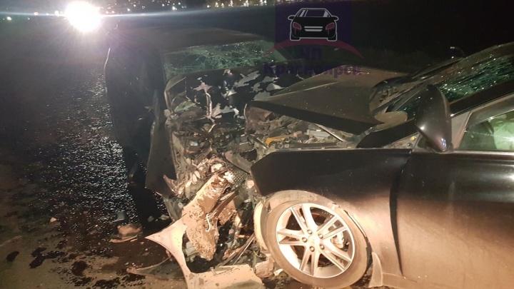Пьяный на Toyota вылетел на встречку в районе Элиты и устроил жесткое лобовое ДТП